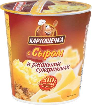 Пюре картофельное быстрого приготовления Картошечка с сыром и ржаными сухариками 50 г