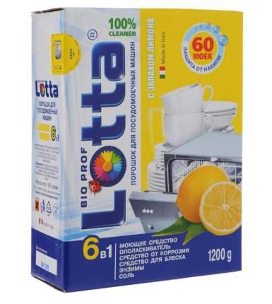Порошок для посудомоечных машин Lotta 6в1, 1,2 кг, с запахом лимона