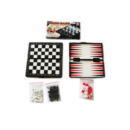 Настольная игра Shantou Gepai 3 в 1 Шашки, шахматы, нарды, 100752725