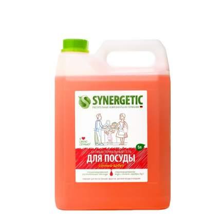 Средство для посуды, овощей и фруктов SYNERGETIC «Сочный арбуз» антибактериальное, 5л