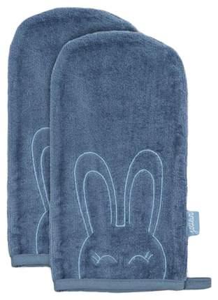 Салфетки для купания Jollein голубые 24x12 см, 2 шт.