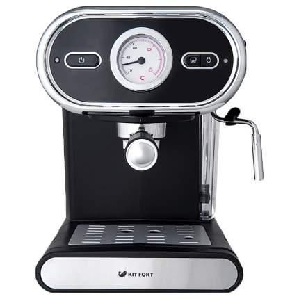 Рожковая кофеварка Kitfort KT-702 Black