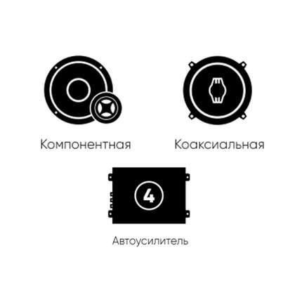 Готовый комплект автоакустики фронт (Ural) + тыл (Ural) + усилитель 4к 34327