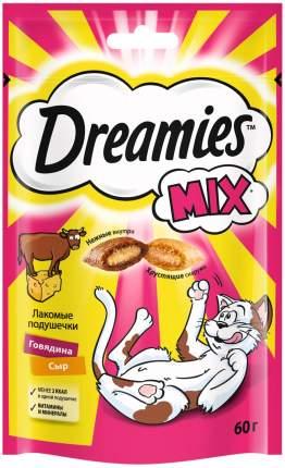 Лакомство для кошек Dreamies Mix, подушечки, с говядиной и сыром, 60г