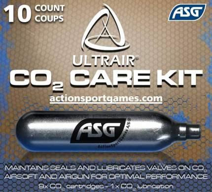 CO2-баллоны для страйкбола ASG Ultrair 40 г, 10 шт.