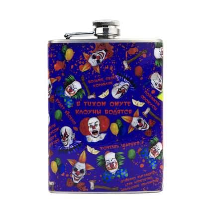 Фляга Kawaii Factory Клоуны 0,2 л фиолетовая