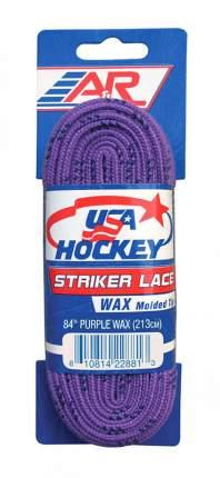 Шнурки хоккейные A&R с пропиткой(183 / фиолетовые/183)