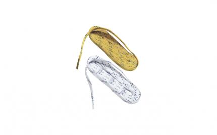 Шнурки хоккейные BAUER Wax Lace W/Double Tracer (36)(96 / белый/96)