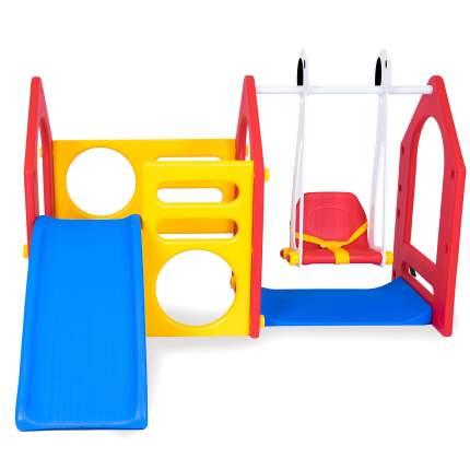 Детский игровой комплекс для дома и улицы Haenim Toy DS-702А горка, детские качели, лаз