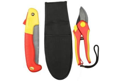 Набор садовый GRINDA: секатор, ножовка складная, нейлоновый чехол