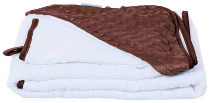 Полотенце Nuovita Grazia с уголком и варежкой 100x100 бело-шоколадный