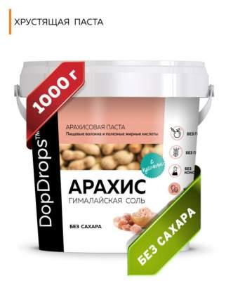 Паста Арахисовая DopDrops Хрустящая Кранч с гималайской солью, 1000 г