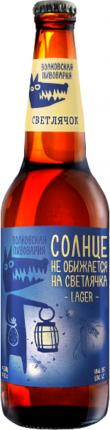 Пиво Волковская пивоварня Светлячок светлое 5% 0,45 л