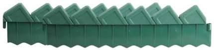 Ограждение GRINDA для клумб, зеленый, 2 секции