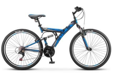 """Велосипед Stels Focus 18-sp. V030 2018 18"""" сине-оранжевый"""