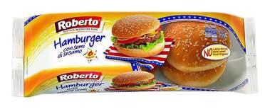 Булки Roberto для гамбургеров с кунжутом 50 г x 6 шт
