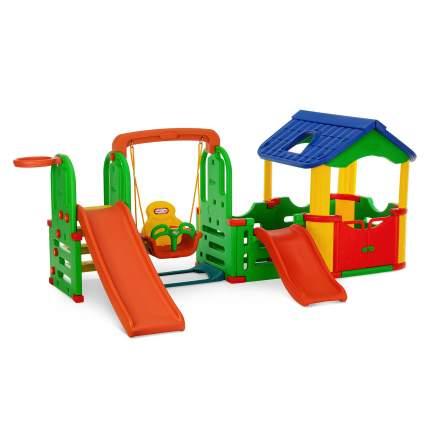 Детский игровой комплекс Happy Box JM-804С Мульти-Хаус  2 горки, кольцо, мяч, качели