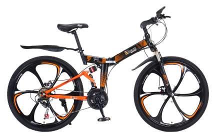 """Горный складной велосипед """"eTrend Sports T-1"""" (черный/оранжевый)"""