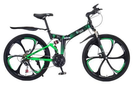 """Горный складной велосипед """"eTrend Sports T-1"""" (черный/зеленый)"""
