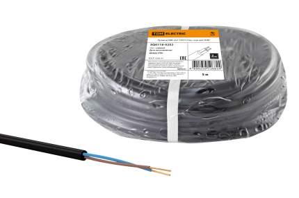 Провод ПВС 2х1 ГОСТ (5м), черный TDM