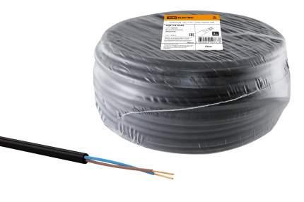 Провод ПВС 2х0,75 ГОСТ (50м), черный TDM