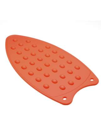 Коврик термостойкий силиконовый для утюга EliZa home, красный, WH12712