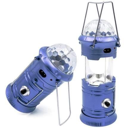 Складной кемпинговый фонарь с диско-шаром 4 в 1, 19 см, Синий