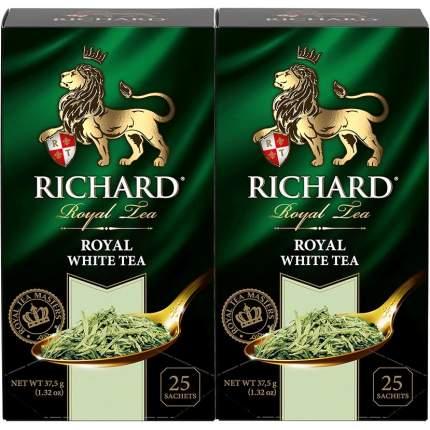 "Чай белый Richard ""Royal White Tea"", 25 сашет, 2 упаковки"