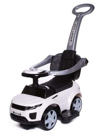 Каталка детская Babycare Sport car резиновые колеса, кожаное сиденье Белый