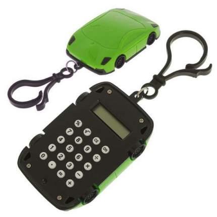 Брелок 8-разрядный калькулятор Машинка Зелёный