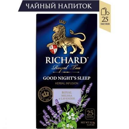 """Чайный напиток Richard """"Good Night's Sleep"""", с добавками, 25 сашетов"""