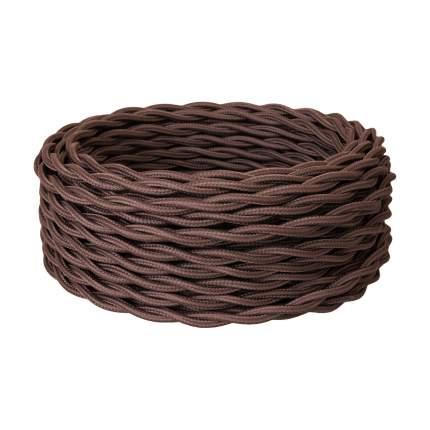 Силовой ретро кабель Retro Electro, 2х1,5, коричневый, длина бухты 20