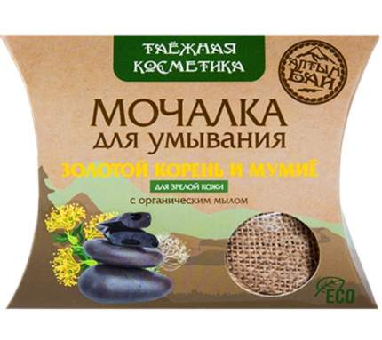 Мочалка для умывания с золотым корнем и мумие для зрелой кожи, 60 г