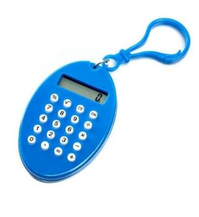 Брелок 8-разрядный калькулятор Овал (Цвет: Синий  )