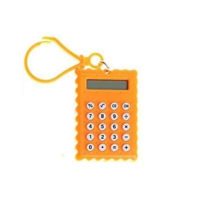 Брелок 8-разрядный калькулятор Печенька (Цвет: Оранжевый  )
