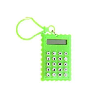 Брелок 8-разрядный калькулятор Печенька (Цвет: Зелёный  )
