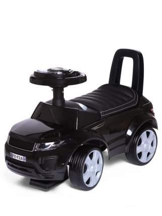 Каталка детская Babycare Sport car кожаное сиденье, резиновые колеса, Чёрный