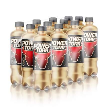 Напиток энергетический Power Torr gold tropical energy газированный пластик 0.5 л, 12 шт