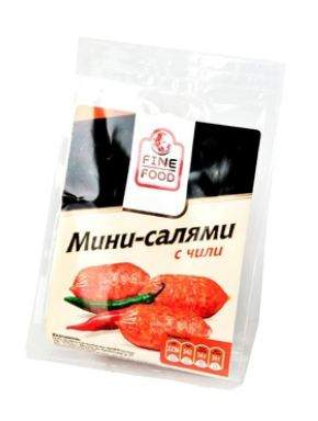 Колбаски Fine Food мини-салями с перцем чили 70 г
