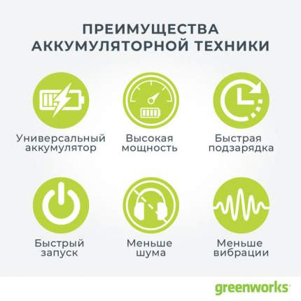 Аккумуляторный высоторез Greenworks GD60PS 1400407 без АКБ и ЗУ