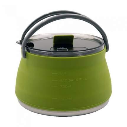 Чайник Tramp складной силиконовый 1л. (оливковый)