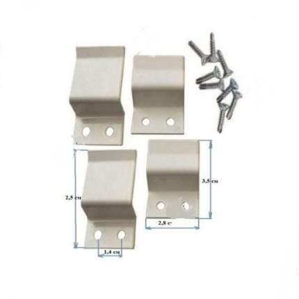 Набор креплений и ручек для москитной сетки, МЕТАЛЛ + 8 саморезов с буром+Агат+6223.07