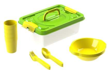 Набор посуды для пикника №6 Вояж на 6 персон, 25 предметов
