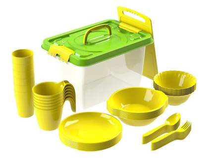 Набор посуды для пикника №7 Все за стол на 6 персон, 44 предмета