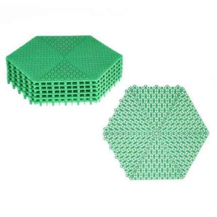 Покрытие модульное шестигранник, зеленое