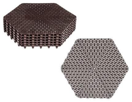 Покрытие модульное шестигранник, шоколад