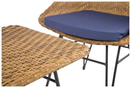 Набор садовой мебели Экодизайн 210488 black; brown 3 предмета