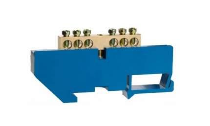 Шина СВЕТОЗАР нулевая на DIN-изоляторе, макс, ток 100А, 5,2мм, 8 полюсов