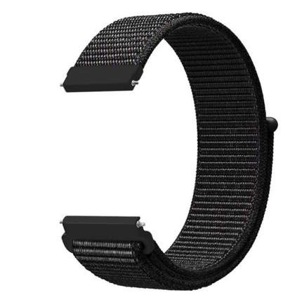Ремешок Nuobi Nylon для Xiaomi, Huawei, Samsung, Garmin (22mm) Black/Pink