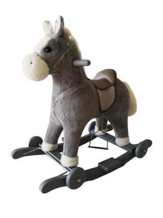 Лошадка каталка-качалка Amarobaby Prime серый